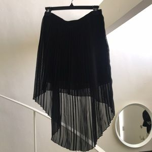 Zara black high low skirt